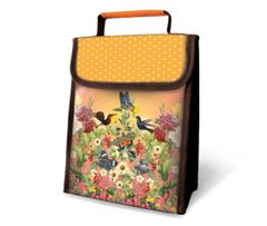 Bird and Butterfly - Insulated Lunch Sack