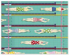 Swimmer - Art Print