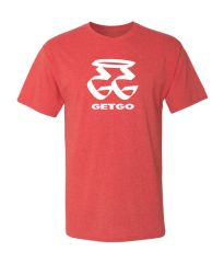 GETGO GG WORD Logo Sports T-Shirt (RED)