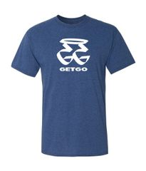 GETGO GG WORD Logo Sports T-Shirt (BLUE)