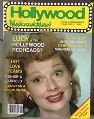 Lucy on the cover of Hollywood Then and Now Studio Magazine Issue November 1985