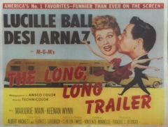 Lucille Ball and Desi Arnaz The Long Long Trailer Poster 8x10 Photo