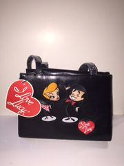 I Love Lucy Stick Figure Faux Leather Purse