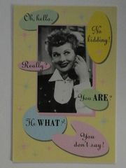 Vintage Lucille Ball I Love Lucy Friendship Card