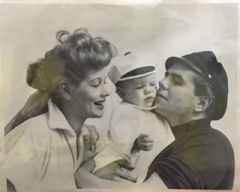 RARE Candid 8x10 Photo of Lucille Ball, Baby, and Desi Arnaz