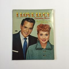 RARE Vintage I Love Lucy Large Coloring Book with Lucille Ball, Desi Arnaz and Little Ricky