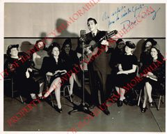 Early Desi Anaz Signed Autographed 8 x 10 Photo Singing to the Ladies