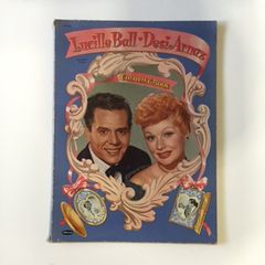 Vintage Large I Love Lucy Lucille Ball and Desi Arnaz Coloring Book