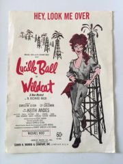 Beautiful Vintage Lucille Ball WILDCAT Music Program from 1960