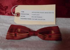 William Frawley Screen Worn Vintage Bow Tie From I Love Lucy