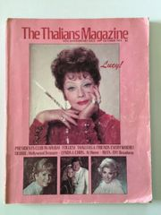 Large Lucille Ball Vintage The Thalians Magazine from October 1974
