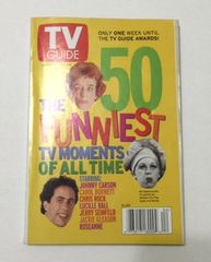 TV GUIDE- The 50 Funniest TV Moments Of All Time with Lucille Ball on Cover