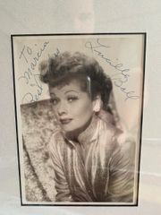 Authentic Lucille Ball Autographed Photo Raffle
