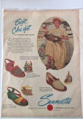 Large Vintage Lucille Ball Magazine Shoe Ad
