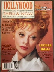 Lucille Ball on Cover of Hollywood Then and Now Studio Magazine Issue July 1989