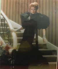 Beautiful Lucille Ball Pose in Black Dress 8x10 Color Photo