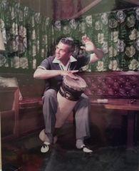 Rare Color Desi Arnaz and his Bongo Drum 8x10