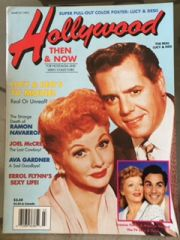 Lucy and Desi on Cover of Hollywood Then and Now Magazine Issue March 1991
