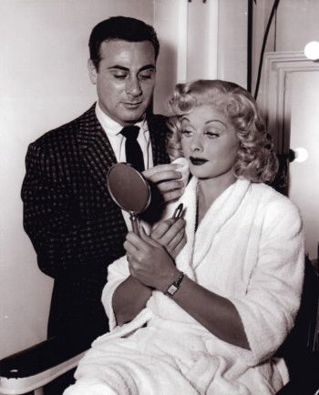Lucille Ball and Make Up Artis...
