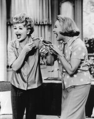 Lucille Ball and Vivian Vance with Cockatiel 8x10