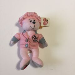 Adorable I Love Lucy Chocolate Factory Pink Beanie Style Bear
