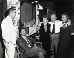 RARE Jess Oppenheimer, Desi Arnaz, Lucille Ball, William Frawley and Vivian Vance I Love Lucy Off Set Meeting 8x10