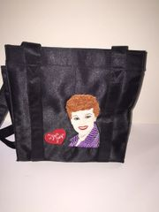 Lucille Ball I Love Lucy Embroidered Vinyl Tote Bag