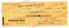 Desi Arnaz Authentic Signed Autograph Check for $40.00