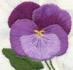 Ruby's Pansy Hand Embroidery Workshop
