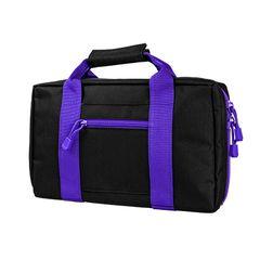 Basic 2 Pistol Case - Black w/Purple Trim