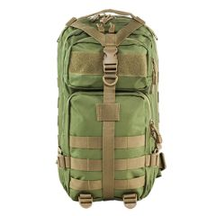 Small Deluxe Backpack - Green w/Tan Trim