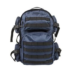 Tactical Backpack - Blue w/Black Trim