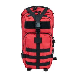 Small Deluxe Backpack - Red w/Black Trim