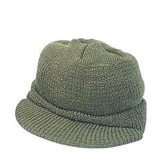 Women's Wool Jeep Cap w/Visor-Olive Drab