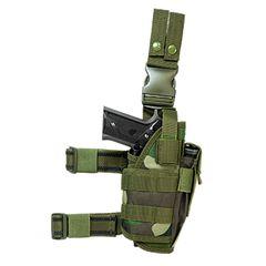 Drop Leg Tactical Holster - Woodland Camo