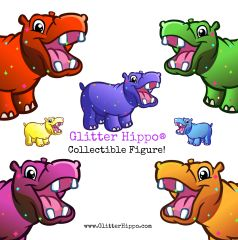 Glitter Hippo® - Collectible Figure!