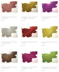 "Holographic Micro Glitter (1/360"") - Bundle Pack & Glitter Hippo® Figure!"