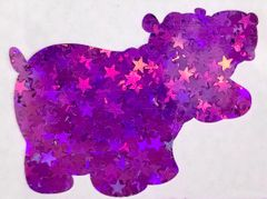 Holographic Shape Glitter! - Purple Stars