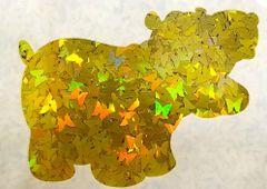 Holographic Shape Glitter! - Yellow Butterflies