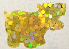 Holographic Shape Glitter! - Yellow Dots