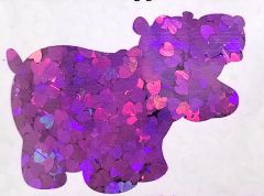 Holographic Shape Glitter! - Purple Hearts