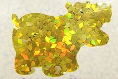 Holographic Shape Glitter! - Yellow Diamonds