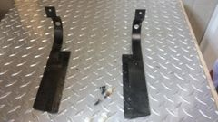 Life Fitness 93T/95T/CLST Treadmill rear roller protectors w/ Hardware Pair Used - Ref. # JG2590