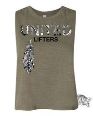 UL - Tribal Feather - Ladies Racerback Cropped Tank