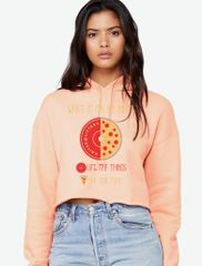 UL - Pizza Plate - Ladies Crop Hoodie
