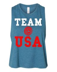 UL - Team USA - Ladies Racerback Cropped Tank