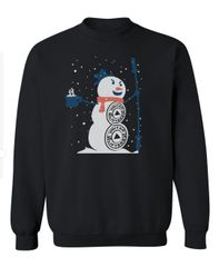 UL - Christmas Snowman - Unisex Sweatshirt - BLACK