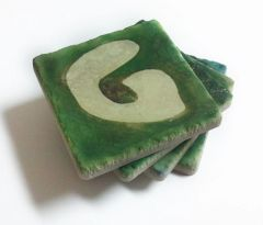 GOLF Tumbled Marble Coasters Set of 4