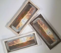 "Wood Float Frames 7"" x 18"""