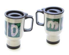 Mom/Dad Stainless Steel Travel Mugs